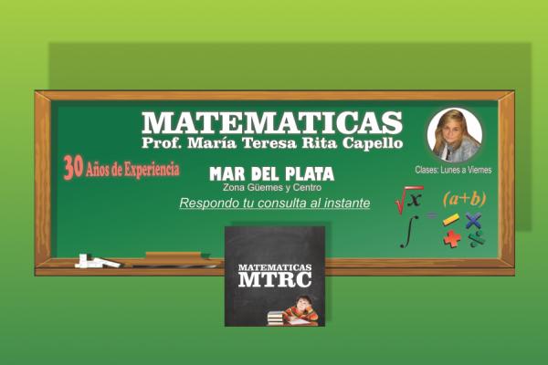 Flyer Profesora de Matematicas